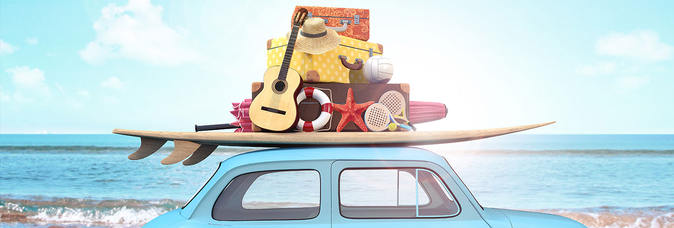 Car packed with beach items header image
