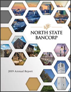 North State Bancorp 2019 Annual Report Cover
